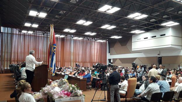 Díaz-Canel en la clausura de la I conferencia nacional del sindicato de la Cultura celebrada el pasado sábado en La Habana. (@DiazCanelB)