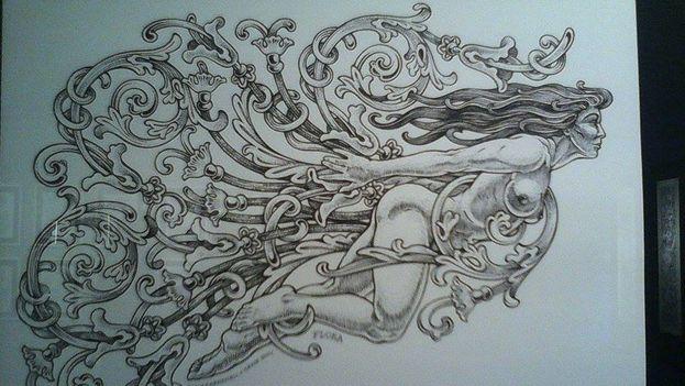Dibujo mitológico de Tony Carbonell. (14ymedio)