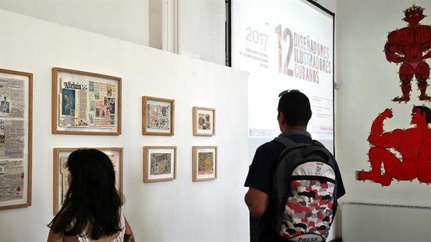 'Encuentros/Encounters' fue inaugurada este jueves en la Embajada de España en La Habana. (Alejandro Ernesto/EFE)