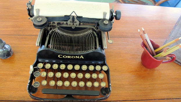 La máquina de escribir de Ernest Hemingway en Finca La Vigia. (Flickr/CC)