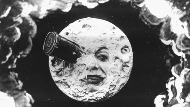 Escena de la película de George Méliès, 'Viaje a la Luna' (1902).
