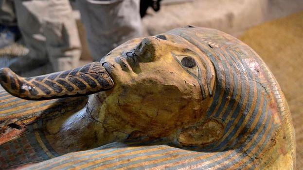 Fotografía facilitada por la misión española del Instituto de Estudios del Antiguo Egipto de la tumba de un sacerdote del dios Amón Ra. (EFE)