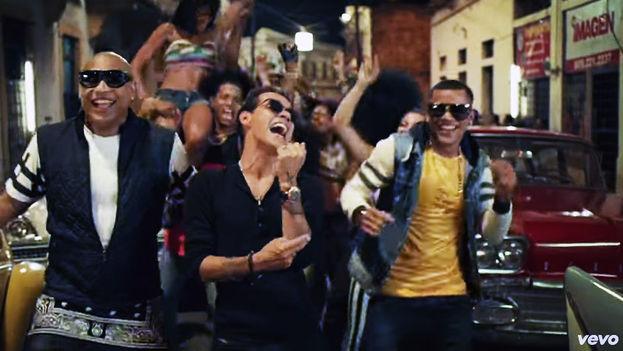 Fotograma del videoclip de 'La Gozadera', de Gente de Zona y Marc Anthony