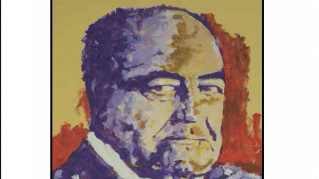Gastón Baquero retratado por el pintor alicantino Miguel Elías, como aparece en la portada del libro. (Cortesía Betania)