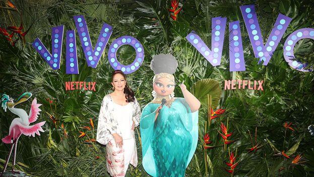 Gloria Estefan en la premiere de 'Vivo', la cinta de dibujos animados que protagoniza para Netflix. (EFE)