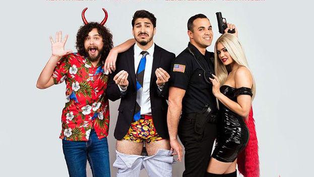 Los actores Héctor Medina, Gonzalo Segovia, Alina Robert y Lieter Ledezma protagonizan Uber Sex, una comedia en Miami. (Cortesía)