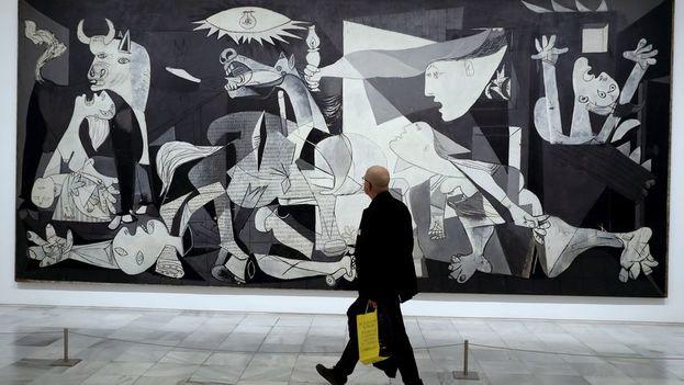 Actualmente el 'Guernica' puede contemplarse en el Museo Nacional Centro de Arte Reina Sofía, en Madrid. (EFE)