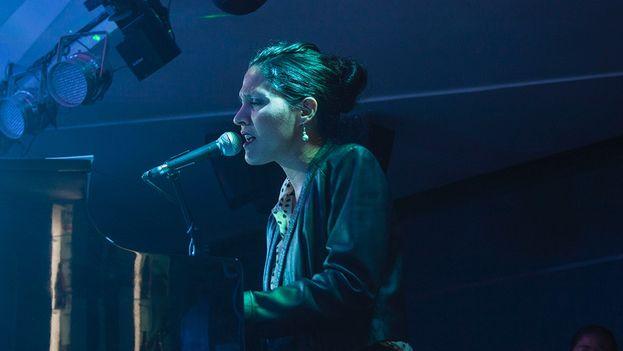 """Haydée Milanés anoche durante la presentación del disco """"Palabras"""" con temas de Marta Valdés"""