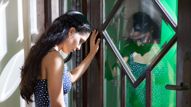 Haydée Milanés durante la filmación del videoclip Canción fácil (Foto Leandro Feal)