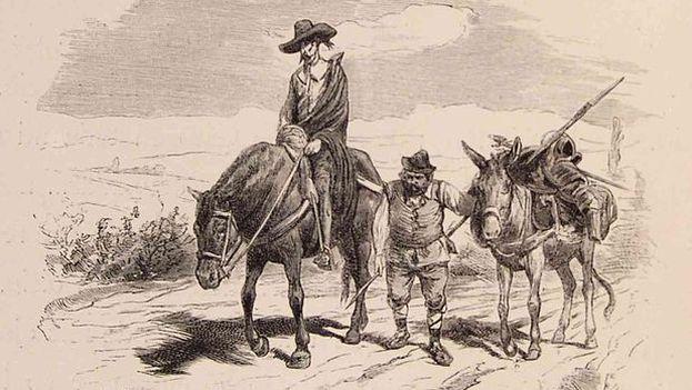 Ilustración de Don Quijote y Sancho. (CC/Biblioteca de la Facultad de Derecho y Ciencias del Trabajo Universidad de Sevilla)