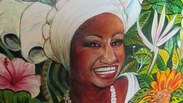 Ilustración de Celia Cruz