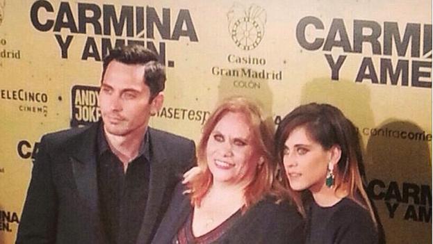 Imagen del estreno de Carmina y Amén publicada por Paco León en su cuenta de Instagram