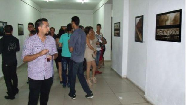 Imagen de la exposición Horizontes Líricos en Camagüey. (Sol García Basulto/14ymedio)