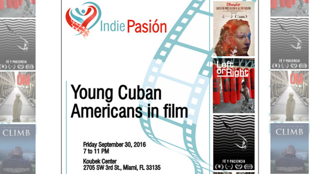 Cartel publicitario del evento Indie Pasión en Miami. (Adaptación 14ymedio)