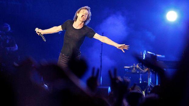 Mick Jagger este viernes 25 de marzo en el concierto de The Rolling Stones en La Habana. (EFE/Ernesto Mastrascusa)