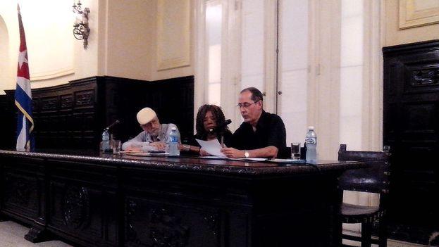 Jorge Fornet durante su discurso ante la Academia Cubana de la Lengua. (14ymedio)