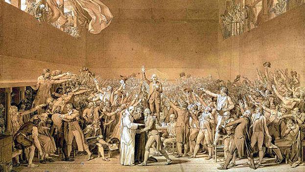 'El juramento del Juego de Pelota', según Jacques-Louis David. (Dominio público)