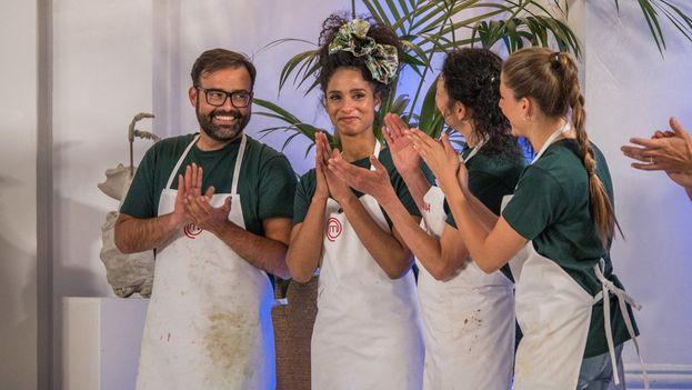 Ketty Fresneda preparó un menú para la final basado en la fusión de las cocinas gallega y cubana. (TVE)