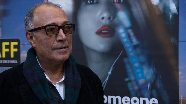 El director Iraní Abbas Kiarostami durante la inauguración del Festival de Cine IBAFF de Murcia, de 2013. (CC)