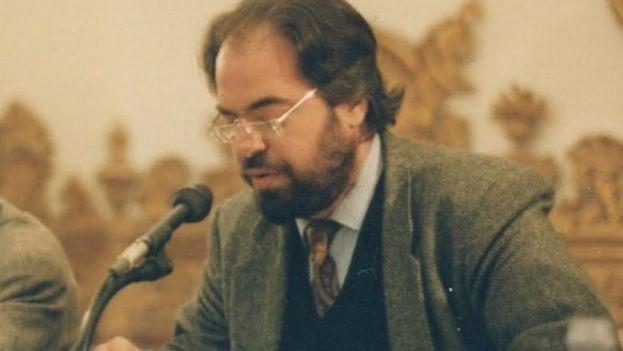 Felipe Lázaro en Salamanca, durante un homenaje internacional a Gastón Baquero en 1993. (Jacqueline Alencar)