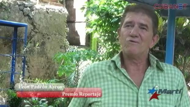 El periodista independiente León Padrón Azcuy, galardonado en la categoría de reportaje. (Martí Noticias)