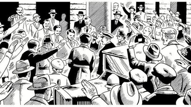 La obra de Lutes se detiene en el punto donde muchos otros la hubiesen comenzado, con la llegada al poder de Adolf Hitler en 1933. (Drawn and Quarterly)
