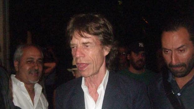 Mick Jagger en su primera noche en La Habana. (EFE)