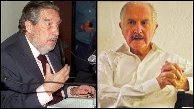 Octavio Paz y Carlos Fuentes rompieron su amistad definitivamente a finales de los ochenta. (Collage)