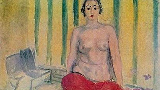 'Odalisca con pantalón rojo' de Henri Matisse