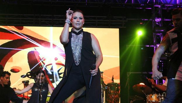 Olga Tañón en un espectáculo en vivo (CC)