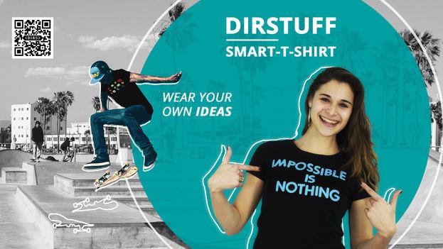 El cubano Juan Pablo Fung ha creado en China la empresa Dirstuffque produce camisetas con mensajes infinitos e intercambiables. (Dirstuff)