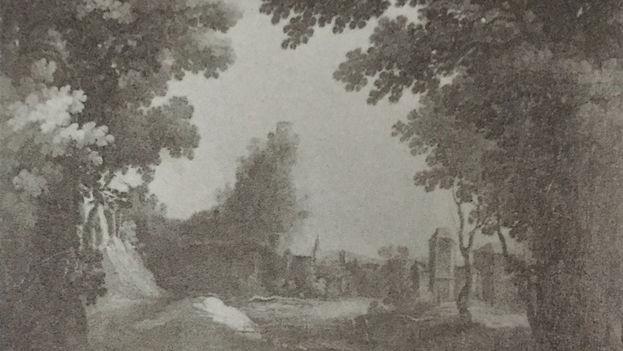Paisaje con un río (de Matías Jimeno) es una de las 16 obras que el Museo del Prado de Madrid hizo llegar a Cuba cuando la Isla formaba parte del Imperio español