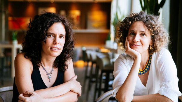 Las directoras del documental 'A media voz', Patricia Pérez y Heidi Hassan, presentaron este domingo su obra en el XXIII Festival de Cine de Málaga. (EFE/Jorge Zapata)