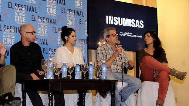 """Pérez dijo que era """"inevitable"""" que 'Insumisas' contara con la visión de una mujer en la elaboración del guión y la dirección de esta película. (Festival de Cine de La Habana)"""