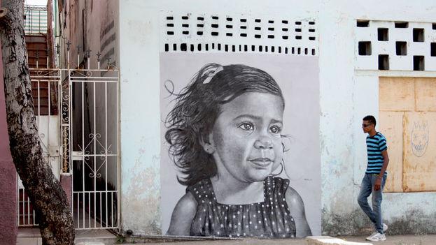 Pintura mural de Máisel López. (14ymedio)