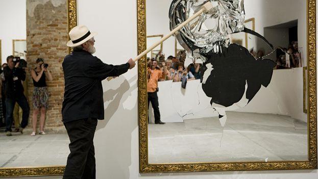 'Trece menos uno', obra creada por Pistoletto para la 'performance' de la Bienal de La Habana de 2015, pasa a manos del Museo de Bellas Artes de La Habana. (Bienal de Venecia)