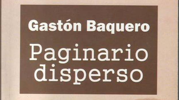 Portada de 'Paginario disperso', de Gastón Baquero