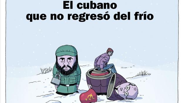 Portada del cómic 'El cubano que no regresó del frío', de Paco Roca, publicada en 'El País Semanal'. (EPS)