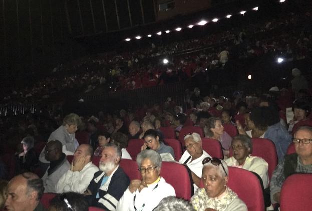 Presentación en el cine Yara de 'Sergio y Sergei', una película ambientada en Cuba, Nueva York, y la Estación Espacial Soviética Mir en 1991. (14ymedio)