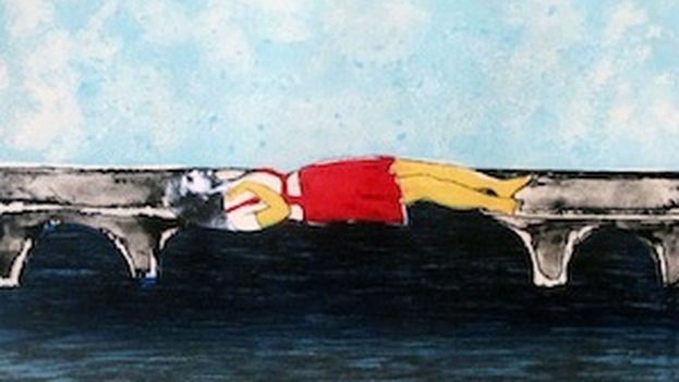 """""""Puente"""", de la artista cubana Sandra Ramos"""