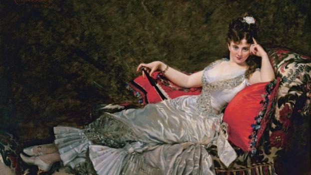 Retrato de Juia Thal, conocida como Mademoiselle Alice de Lancey. (Charles Carolus-Duran)