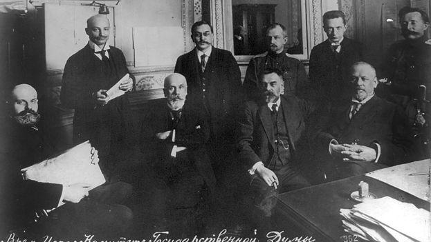 Miembros del Comité provisional de la Duma del Estado en 1917. (wikimedia)