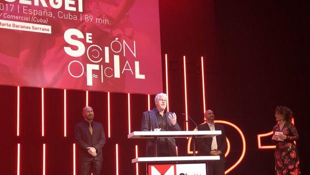 Ron Pearlman presenta la película de Daranas en el Festival de cine en español de Málaga. (@festivalmalaga)