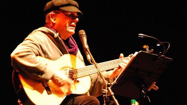 Silvio Rodríguez en un concierto en 2011.