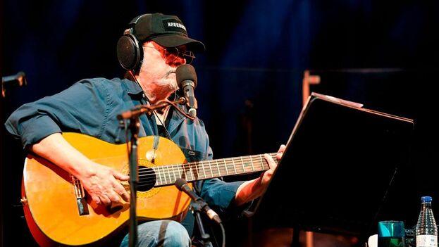 Silvio Rodríguez ofreció este sábado un concierto en el Wizink Center de Madrid. (EFE)