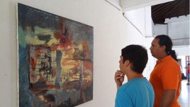 Sinapsis, exposición de arte abstracto en Camagüey (Foto Sol García Basulto/14ymedio)
