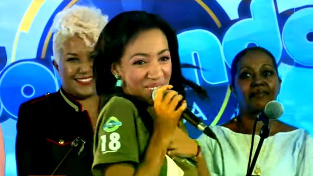 La ganadora del certamen Sonando en Cuba, Yulaysi Miranda Ferrer, quien compitió por la zona occidental del país. (Captura)