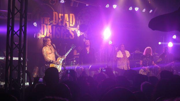 The Dead Daisies en concierto en el Maxim Rock de La Habana. (14ymedio)