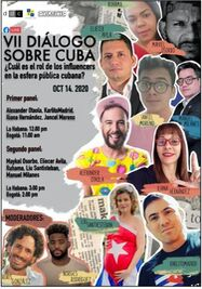 VII Diálogo sobre Cuba: ¿Cuál es el rol de los influencers en la esfera pública cubana?. (Facebook)