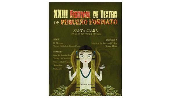 Cartel del XXIII Festival de Teatro de Pequeño Formato